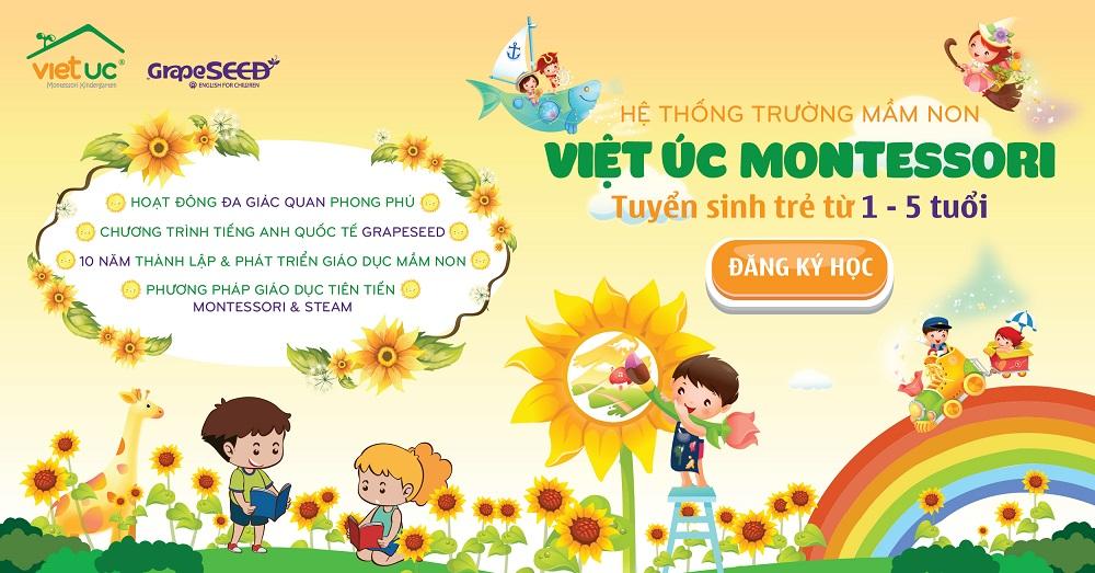 Tuyển sinh mầm non Việt Úc VOV Mễ Trì
